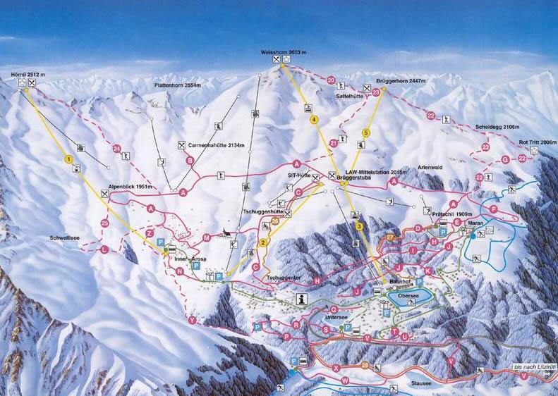 Arosa Skigebiet
